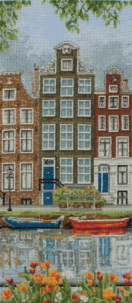 Amsterdam Street Scene by Anchor, counted cross stitch kit