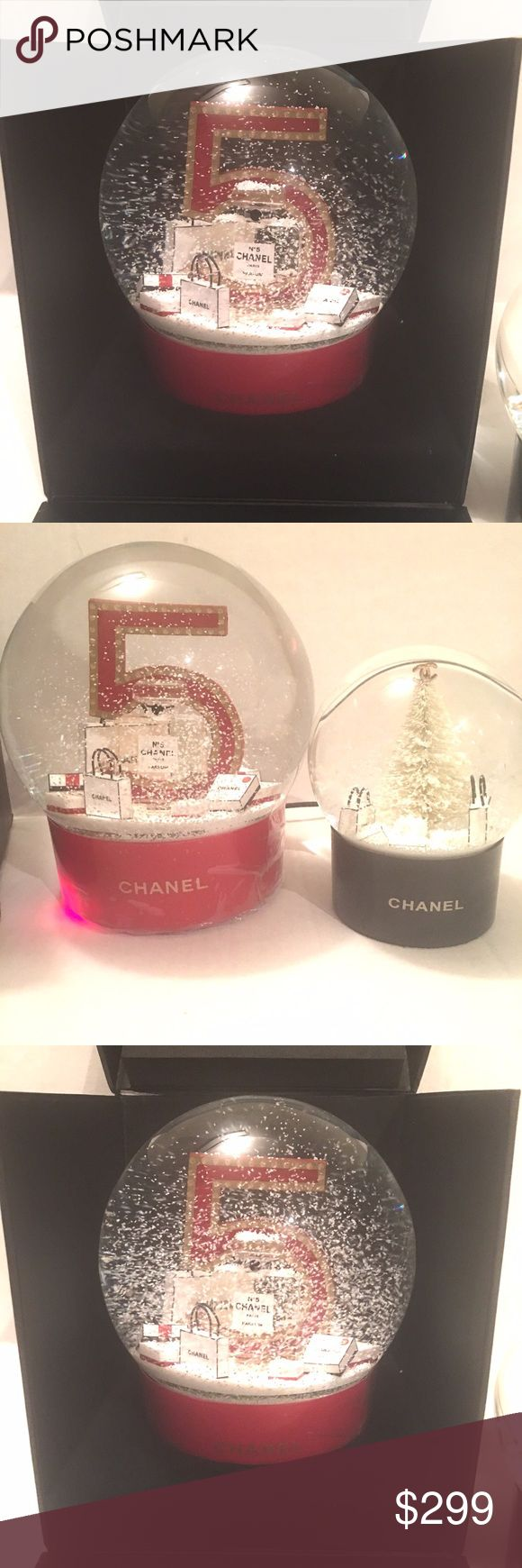 Chanel jumbo snow globe New with box- plugs in to keep the snow swirling. I also have the smaller snow globe for sale CHANEL Accessories