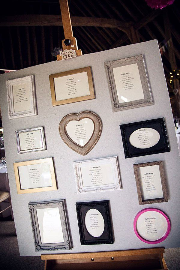 Colourful Crafty Cath Kidston Wedding Frame Table Plan http://www.fitzgeraldphotographic.co.uk/