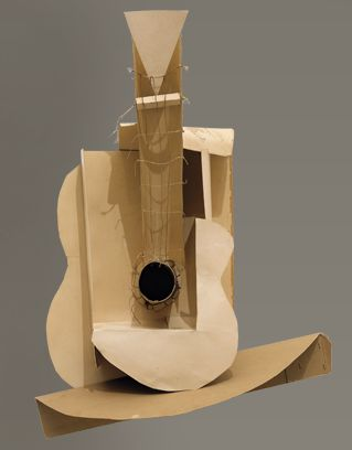 Picasso cardboard guitars