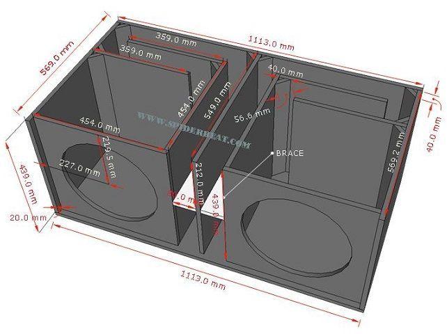 Ukuran Dan Skema Box Speaker Sub Bass 15 Inch Double In 2020 Speaker Box Design Subwoofer Box Design Sub Box Design