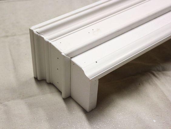 wood valance - hide curtain track?