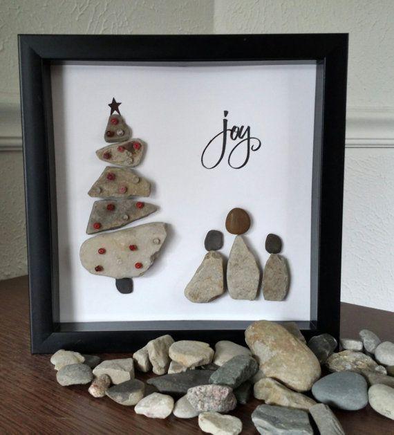 Pebble Rock Art by JeniferLeighDesigns on Etsy, $25.00: