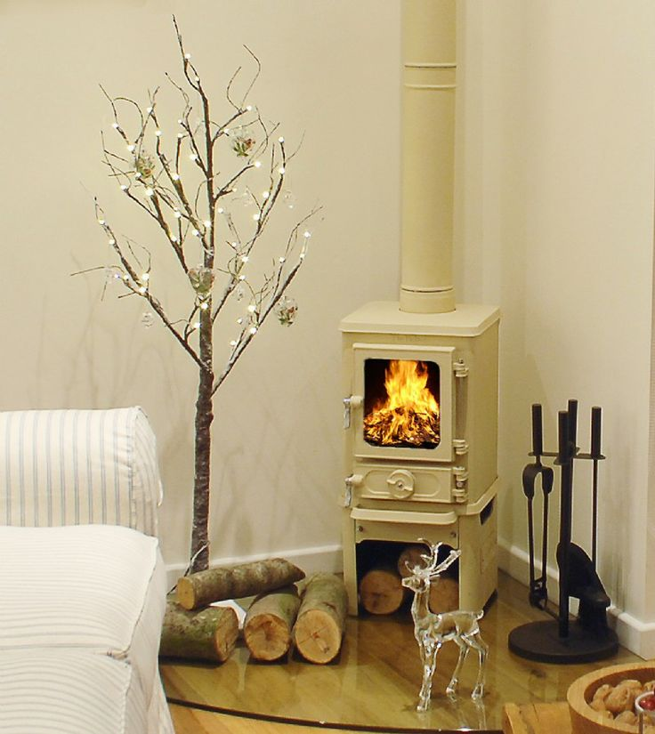 Log burner. I like the traditional look this one, and also how nicely it suits being in a corner.
