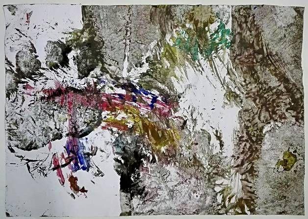 Tämä Juuson teos on nimeltään Värit liikkuu.