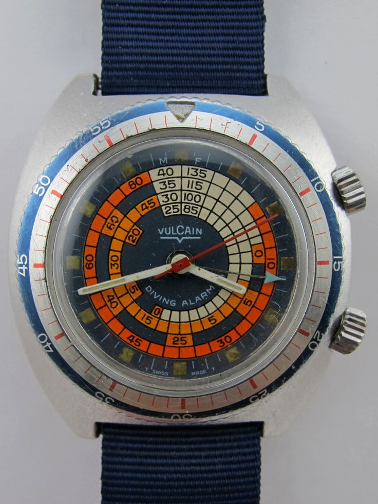 1960s Vulcain Alarm Diver.  I think Vulcain is one of the most overlooked watch brands, especially their great 60s vintage pieces like this one.  Beautiful.