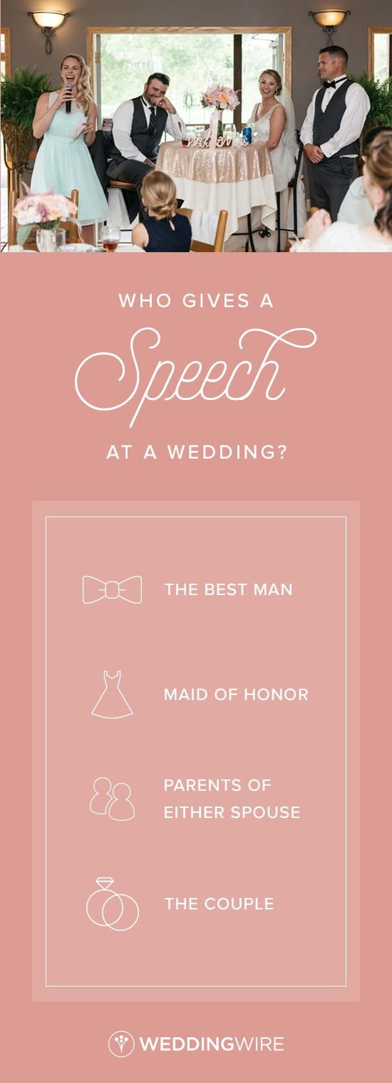 Who Gives a Speech at a Wedding?  - Confused about who should speak at your reception? Get all the details about wedding speeches on @weddingwire! {Krista Lajara Photography}