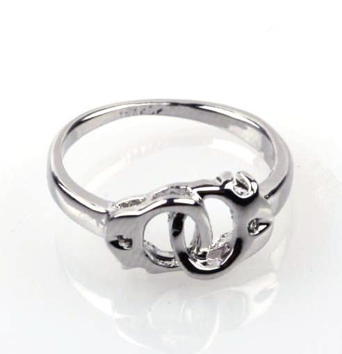 Linking Handcuff Ring Silver Alloy by SilverPhantomJewelry on Etsy, $9.99 The wife of a police officer!!!