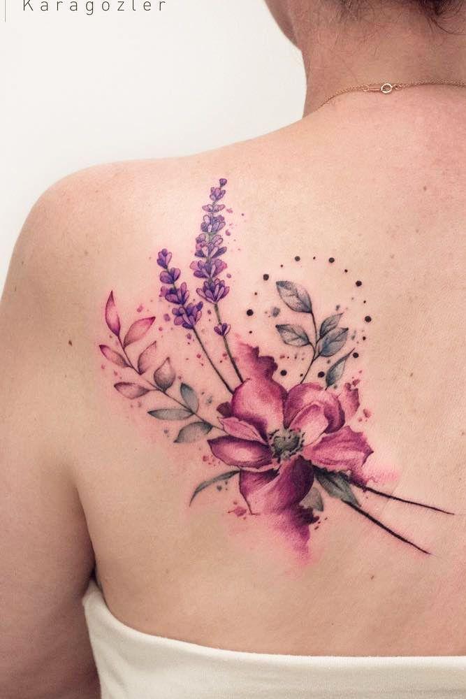 Tyna Majczuk Flower Tattoo Watercolor Tattoo Flower Floral