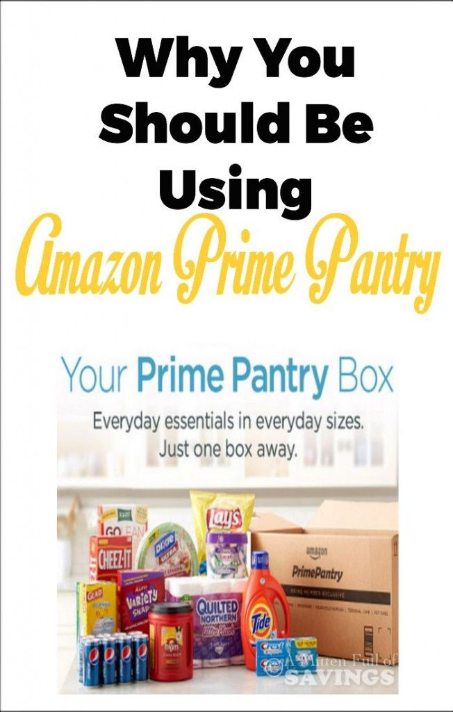 If you haven't checked out the Amazon Prime Pantry program, read about Why You Should Be Using Amazon Prime Pantry Service
