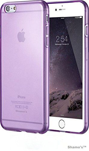 "iPhone 6 Case, 4.7"" Shamo's Thin Case Cover TPU Rubber Gel, Transparent Clear Back Case for Iphone 6, Soft Silicone, Shamo's (Purple)"