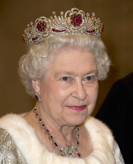 The 96 rubies set into the wreath of roses on this tiara were a gift from the Burmese people. Crediting the ruby with prophylactic properties, the tiara was specially designed to protect the wearer against the 96 diseases the Burmese people believe can afflict the human body.