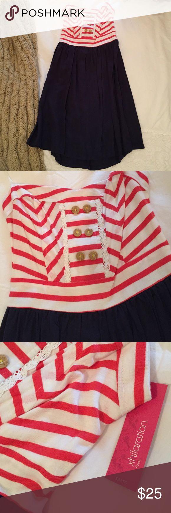 XHILARATION DRESS NWT. Cute, casual strapless dress. Perfect for summer. Never worn. Xhilaration Dresses Strapless