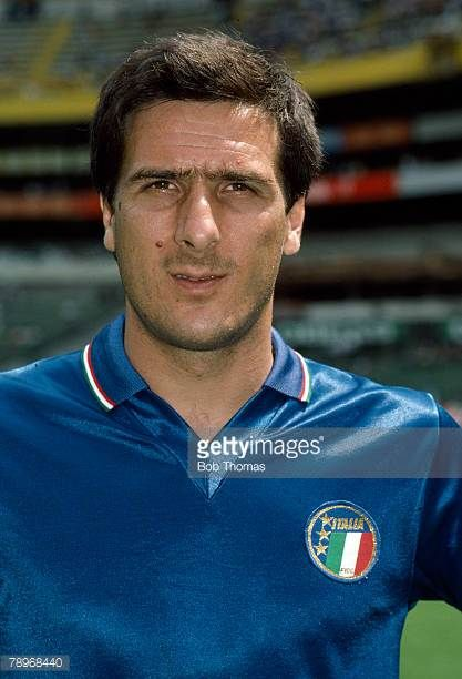 circa 1985 Gaetano Scirea Italy who won 78 Italy international caps and was a World Cup winner in the 1982 Italian team
