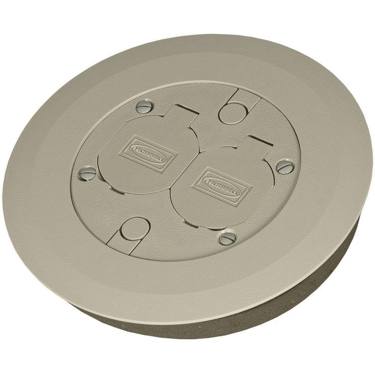 null Round Floor Box Cover Kit with 2 Lift Lids for Use with 5511 Floor Box - Gray Non-Metallic