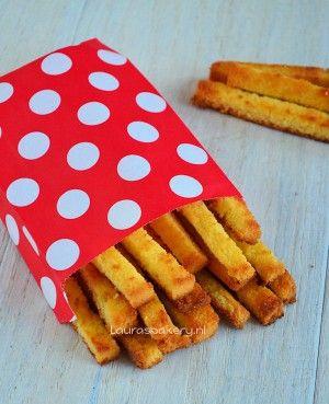 Zoete cake frietjes - soort wentelteefjes en snel te maken. en lekker natuurlijk!