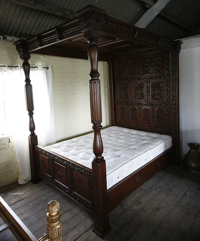 Dark Wood Canopy Bed 48 best tudor furniture images on pinterest | 3/4 beds, antique