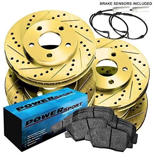 Brake Pads And Rotors Prices >> Fit Bmw 335xi 335i 335d Front Rear Gold Drill Slot Brake