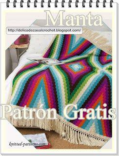 Delicadezas en crochet Gabriela: Manta rústica y muy bohemia