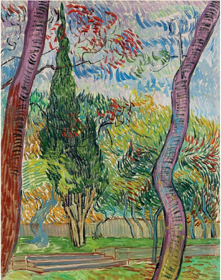 Parc de l'hôpital Saint-Paul - Vincent van Gogh, 1889. Private collection, Geneva, Switzerland.