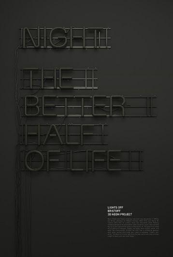 Beautiful Neon Typography by Rizon Parein | Abduzeedo | Graphic Design Inspiration and Photoshop Tutorials