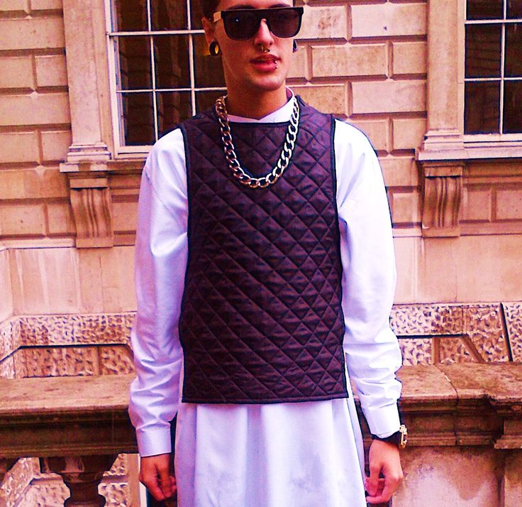 Extraordinary Swag and a Mouth Full of Gold - Somerset House London Fashion Week.