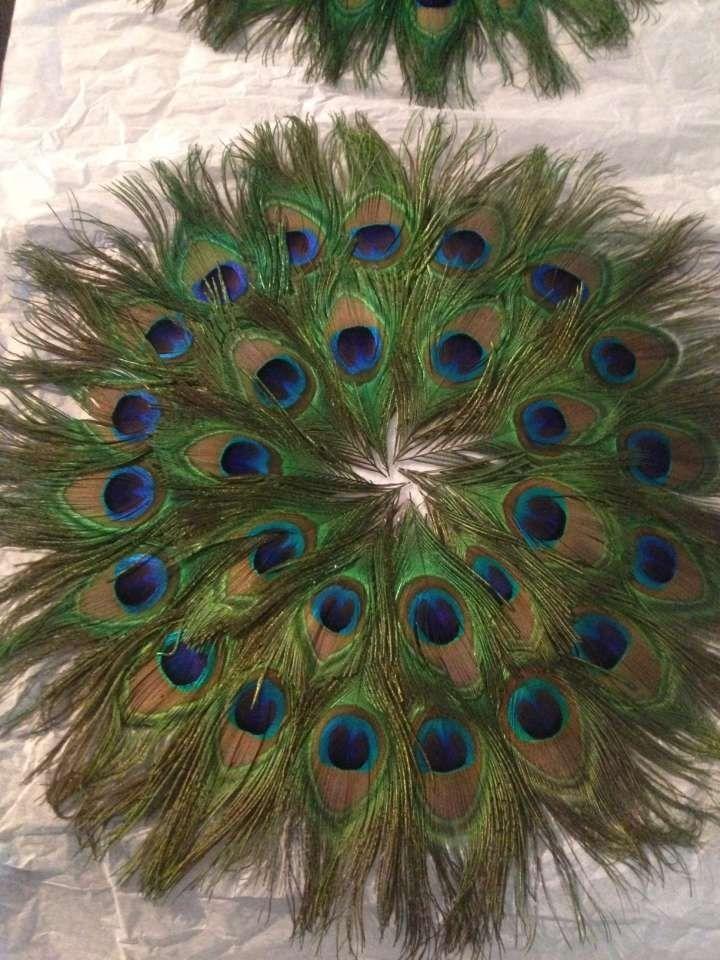 13 Peacock Feather Centerpieces