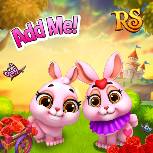 These pink bunnies would really love you to become their friend! Play Royal Story and pay them a visit! #royalstorygame #royalvalentines