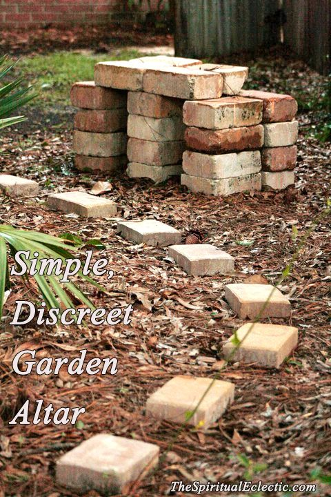 Altars:  Discreet Garden #Altar.