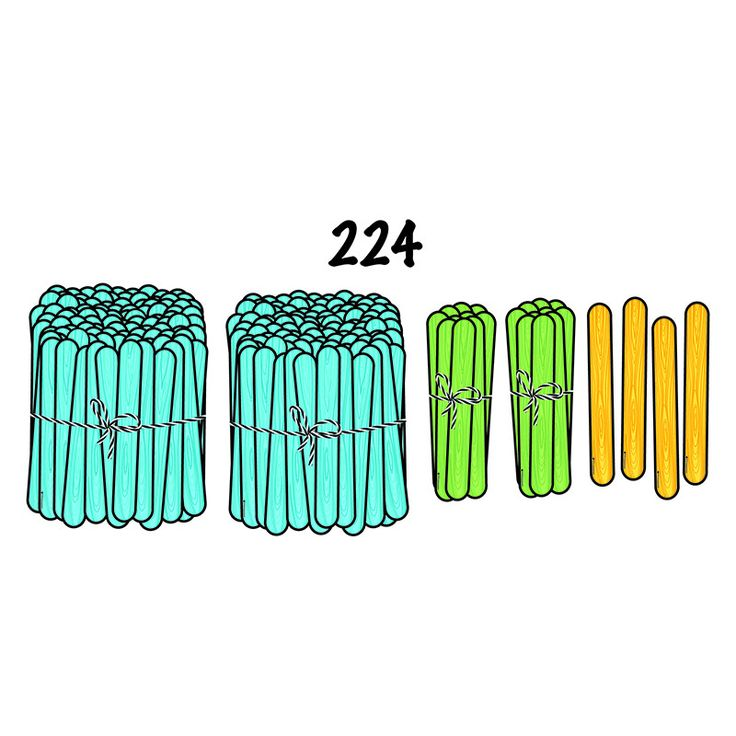 Large and colorful magnetic craft sticks make great visual representations for demonstrating place value! Color-coded by place (blue hundreds, green tens, and yellow ones). Try using them for tally ch