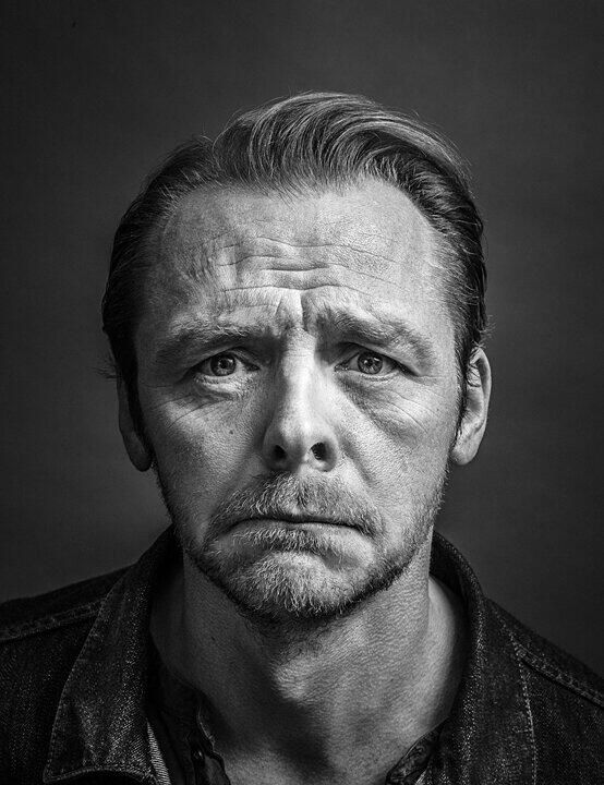 Simon Pegg by Andy Gotts, DMU graduate