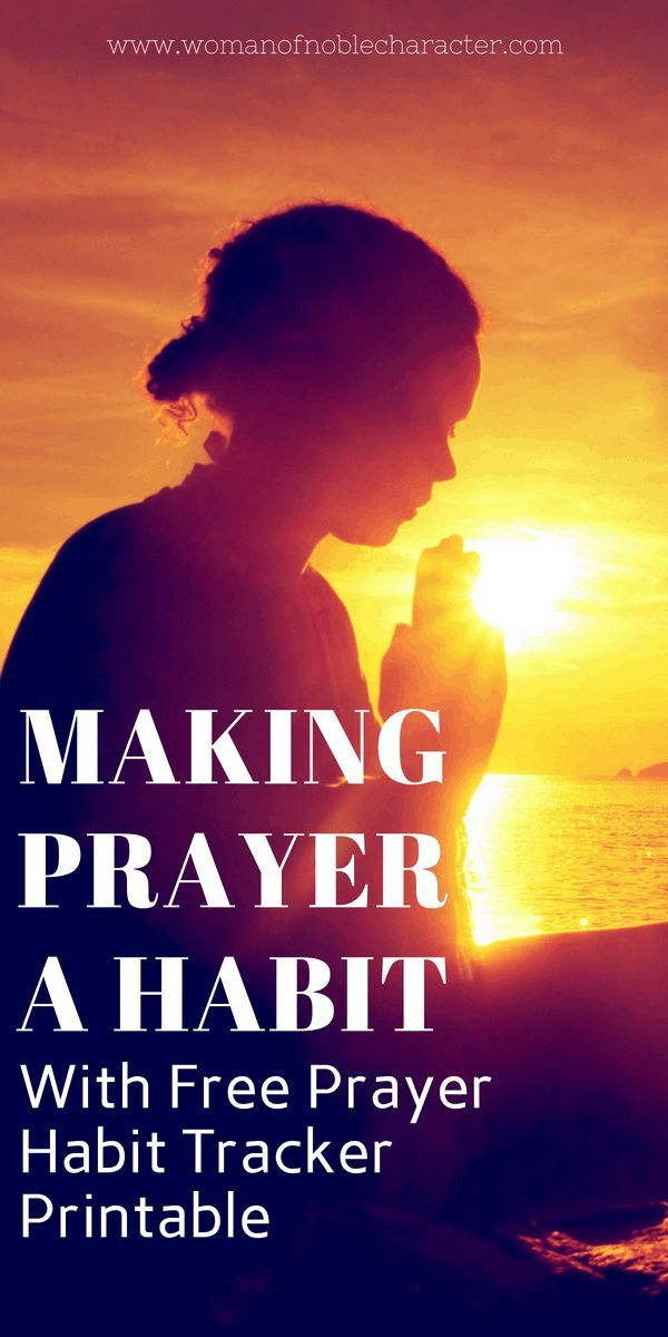 5 suggestions for making prayer a behavior together with free prayer tracker printable