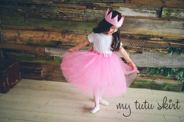 little princess in tutu skirt