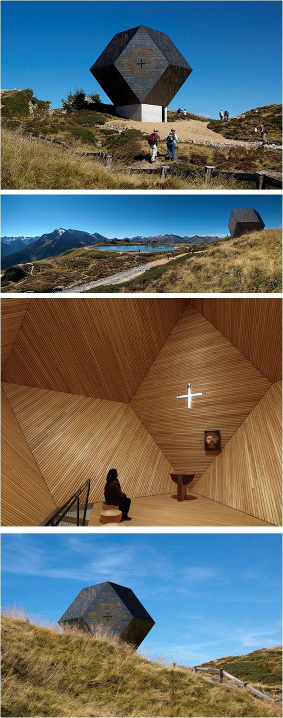 """Cappella """"Granato"""", Penkenjoch, Zillertal, Austria ©fotoenricocano Architetto: Mario Botta by kyossagenzia on Flickr. Architetto: Mario Botta"""