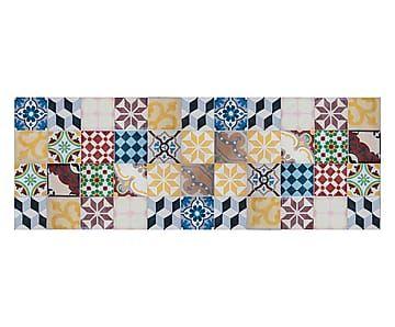 Passatoia cucina in vinile mosaico vintage 66x180 cm for Mattonelle in vinile