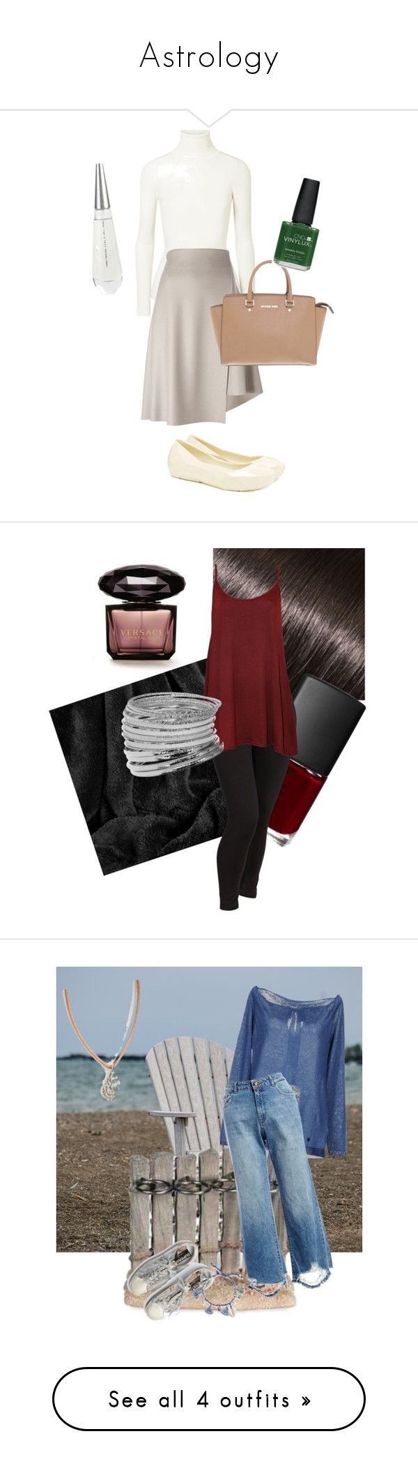 """""""Astrology"""" by lisemari ❤ liked on Polyvore featuring JoosTricot, 08 Sircus, Michael Kors, UN United Nude, CND, Issey Miyake, Donna Bella Designs, NARS Cosmetics, Versace and Berkshire Blanket"""