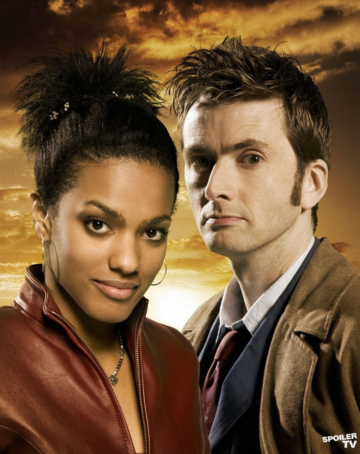 The 10th Doctor (David Tennant) and Martha Jones (Freema Agyeman) - 2007.
