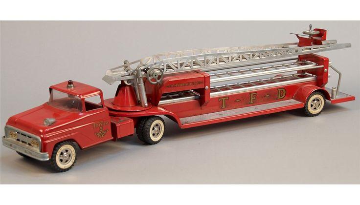 Tonka Fire Department Aerial Ladder Truck | Vintage Metal ...