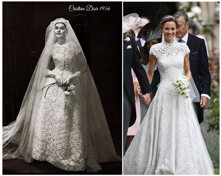 Have noticed that  Pippa's gown recalls that of Dior?   Come read my blog ;)
