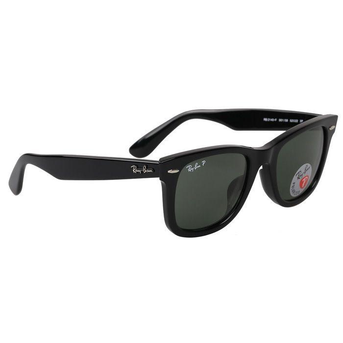 Ray-Ban RB2140F901 / 58 52M Polarized UV400 Protection Hikers' Sunglasses - Black + Dark Green
