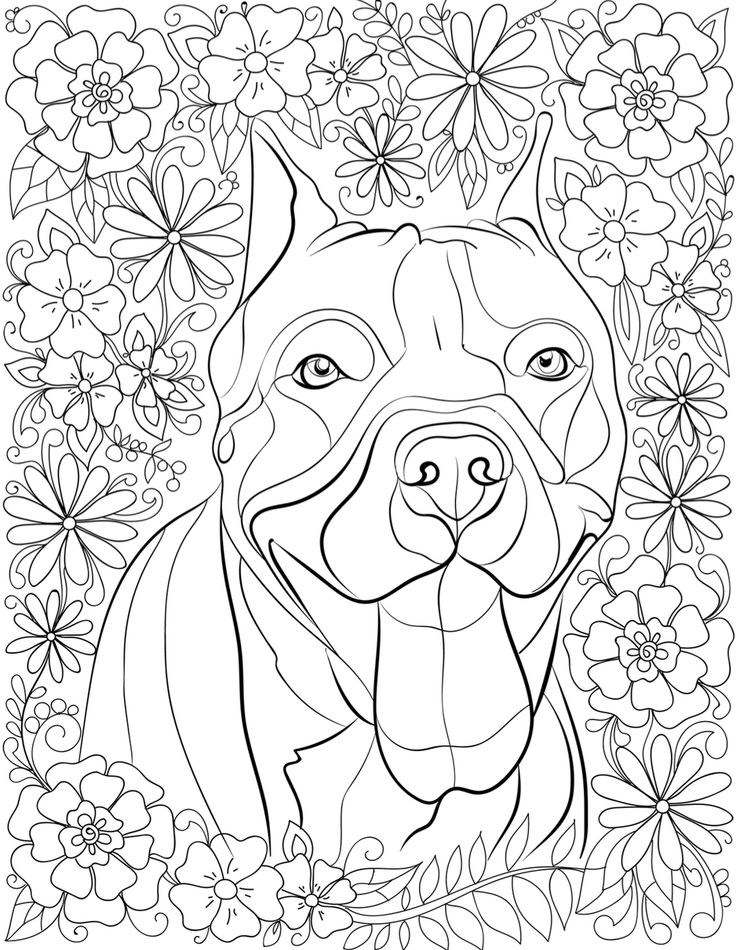 Idea by Pat w on Stained glass Dog coloring page, Puppy