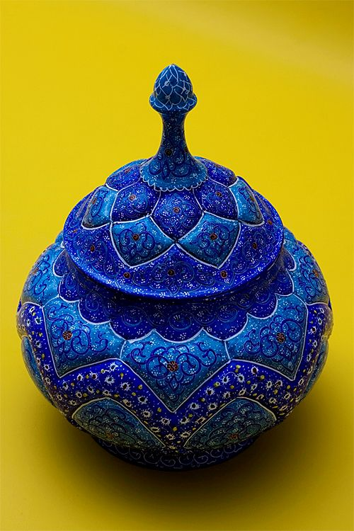 "Nomadic Decorator | Royal Cobalt Blue |  http://nomadicdecorator.com ""It is a handcrafted Iranian ceramic vessel purchased by Flickr member M@mad in Isfahan, Iran and photographed by him."""