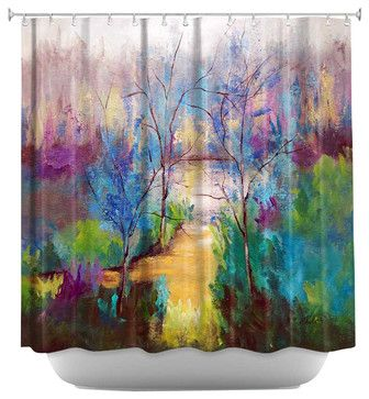 And God Saw That It Was Good Shower Curtain - contemporary - Shower Curtains - DiaNoche Designs
