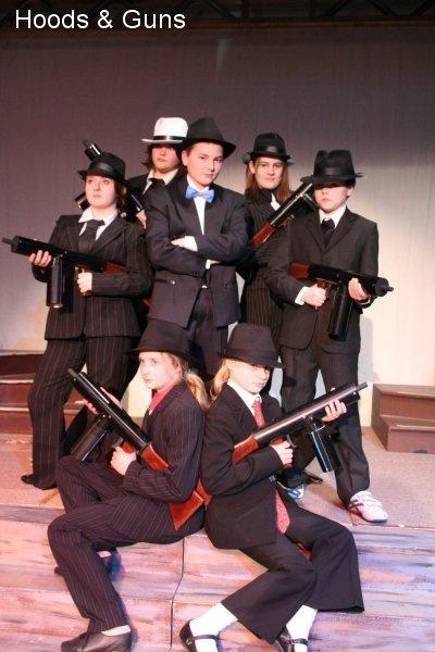 Hoods and splurge guns. Smug looking Dandy Dan centre. Guns to hire from us.