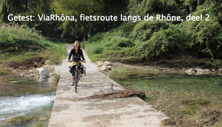 Carole en Josée fietsen het zuidelijke deel van de ViaRhôna. Ze beginnen in de Ardèche/Drôme en eindigen in de Provence/Camargue, aan de Middellandse Zee.