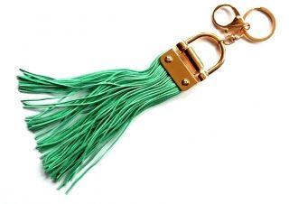 Rojtos táskadísz és kulcstartó menta színben