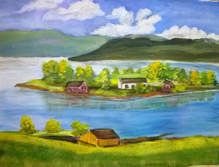 Suzanne Smeets  Paesaggio Irlandese Tecnica olio acrilico su tela 30x40
