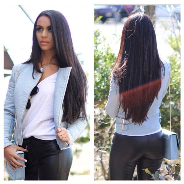 My goal is to grow my hair out till its this long and v cut it before I turn 35!