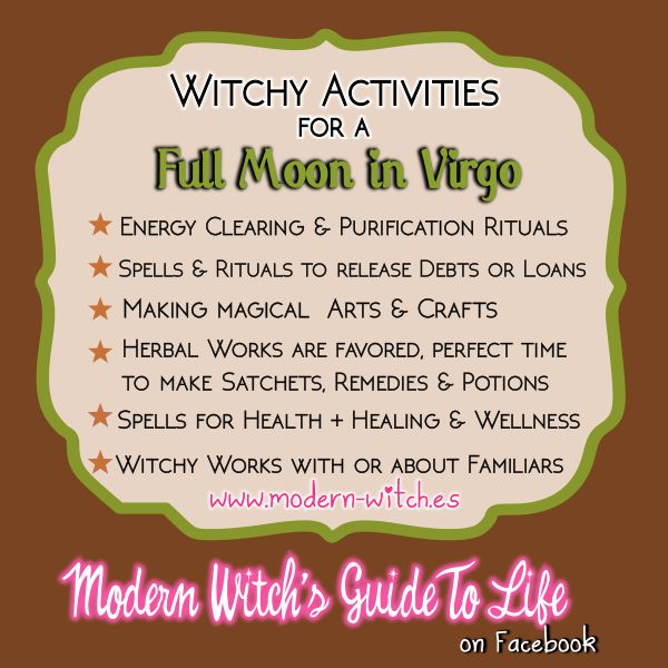 always in pesce, 2017: mars, 12th★ Witchy things to do on a Full Moon in Virgo ★