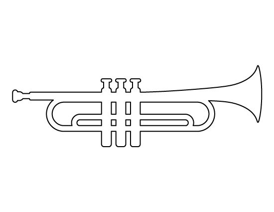 trumpet pattern use the printable outline for crafts creating stencils scrapbooking and